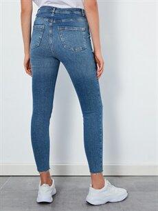 %98 Pamuk %2 Elastan Sökük Detaylı Super Skinny Jean Pantolon