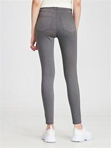 %65 Pamuk %31 Polyester %4 Elastan Super Skinny Jean Pantolon