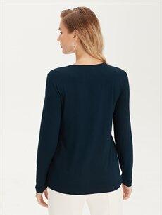 Kadın Desenli Viskon Bluz