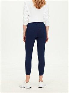 %62 Pamuk %33 Polyester %5 Elastan Kemerli Skinny Pantolon