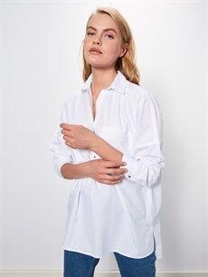 Beyaz Düz Pamuklu Bluz 9WJ134Z8 LC Waikiki