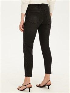 %98 Pamuk %2 Elastan Yüksek Bel Dar Esnek Jean Yüksek Bel Skinny Jean Pantolon