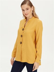 Sarı Salaş Viskon Gömlek 9WJ403Z8 LC Waikiki