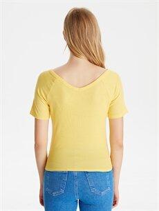 Kadın Beli Bağlamalı Viskon Tişört