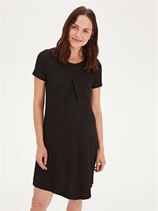 Kadın Işıltılı Hamile Elbise