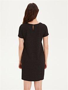 %64 Polyester %2 Elastan %34 Viskon Işıltılı Hamile Elbise