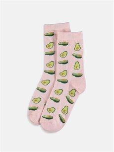 Pembe Desenli Soket Çorap 9WJ790Z8 LC Waikiki