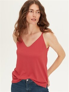 Kadın Askılı Dökümlü Bluz