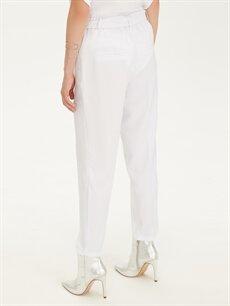 Kadın Bilek Boy Kuşaklı Havuç Pantolon