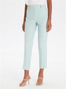 %97 Polyester %3 Elastan Normal Bel Esnek Bilek Boy Esnek Gabardin Pantolon