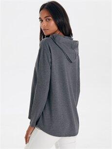Kadın Slogan Detaylı Sweatshirt