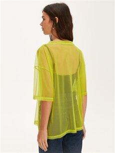 %100 Polyester Neon Salaş Transparan Tişört