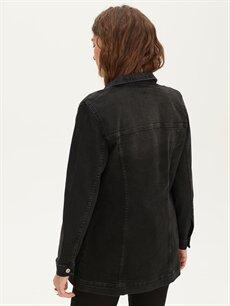 LC Waikiki Siyah Uzun Jean Ceket
