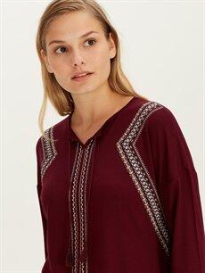 Kadın Baskılı Viskon Tişört