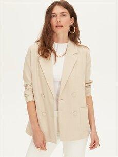 %100 Polyester Orta İnce Ceket Blazer Ceket