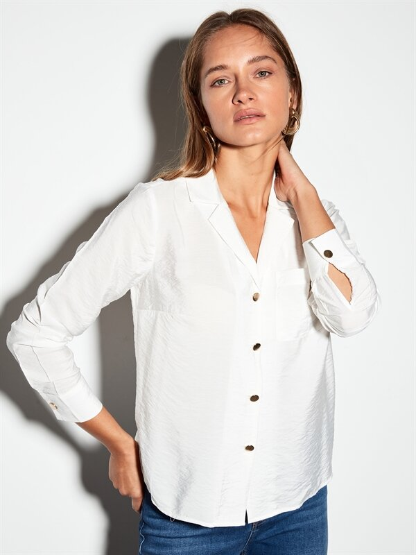 Yakalı Saten Gömlek - LC WAIKIKI