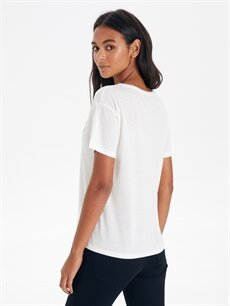 Kadın Slogan Baskılı Tişört