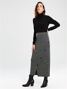 Kadın Desenli Uzun Etek