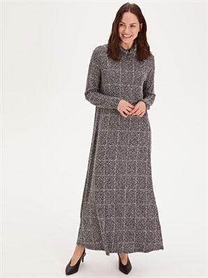 Şal Yaka Uzun Esnek Elbise - LC WAIKIKI