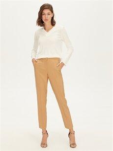 %85 Polyester %15 Poliamid Normal Bel Esnek olmayan Standart Normal Bel Gabardin Pantolon