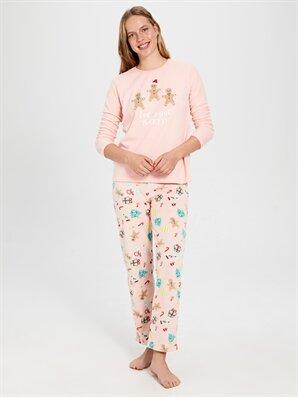 Desenli Polar Pijama Takımı - LC WAIKIKI