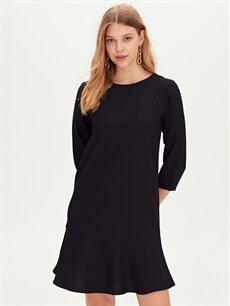 Kadın Dokulu Kumaş Kloş Elbise