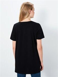 Kadın Pamuklu Düz Basic Tişört
