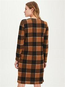 Kadın Düz Kesim Ekose Elbise