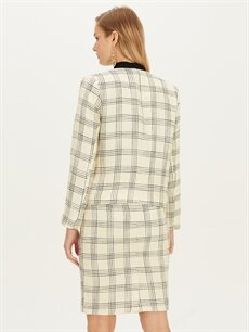 Kadın Ekose Ceket