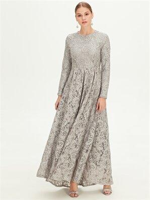 Dantelli Uzun Abiye Elbise - LC WAIKIKI