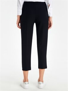 %86 Polyester %14 Elastan Esnek Harem Bilek Boy Esnek Harem Pantolon