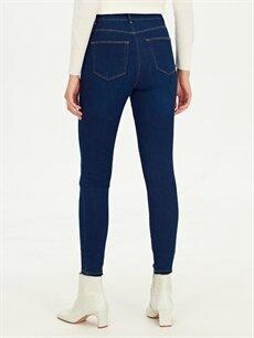 %81 Pamuk %17 Polyester %2 Elastan Super Skinny Jean Pantolon