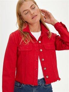 Kırmızı Kısa Jean Ceket 9WN529Z8 LC Waikiki