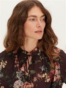 Kadın Çiçek Desenli Viskon Tunik