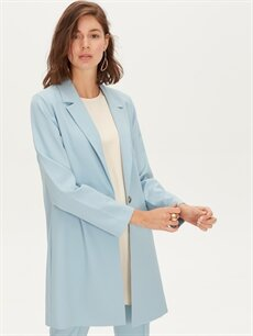 Mavi Uzun Blazer Ceket 9WO301Z8 LC Waikiki