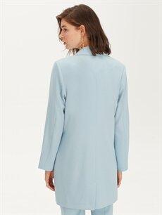 LC Waikiki Mavi Uzun Blazer Ceket