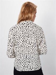 Kadın Desenli Viskon Gömlek