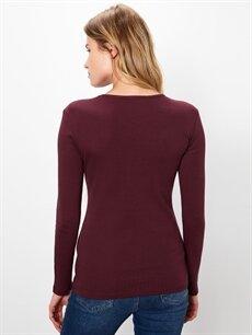 Kadın Düz Basic Pamuklu Tişört