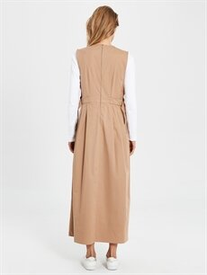 Kadın Pamuklu Uzun Kloş Elbise