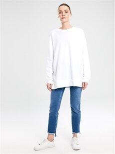 %99 Pamuk %1 Elastan Standart Jean Normal Bel Esnek Bilek Boy Jean Pantolon