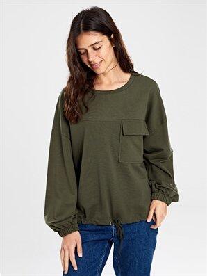 Cep Detaylı Pamuklu Sweatshirt - LC WAIKIKI