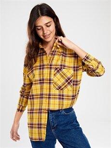 %66 Pamuk %34 Polyester  Cep Detaylı Ekose Gömlek