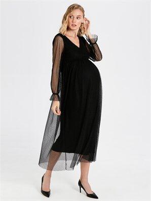 Hamile Tül Detaylı Elbise - LC WAIKIKI