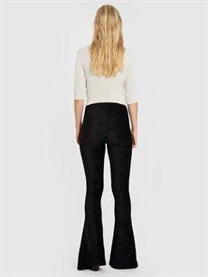 Kadın Quzu Yırtmaç Detaylı Pantolon