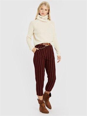 Quzu Çizgili Havuç Pantolon - Konsinye