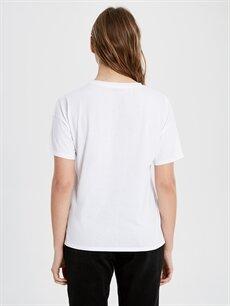 Kadın Star Wars Baskılı Pamuklu Tişört