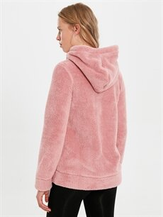 %100 Polyester Aktif Spor Peluş Kapüşonlu Sweatshirt