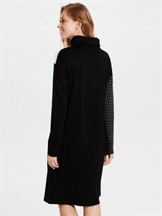 Kadın Renk Bloklu Elbise