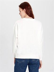 %50 Pamuk %50 Polyester Alice Harikalar Diyarında Baskılı Sweatshirt
