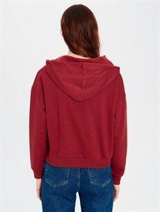 Kadın Mickey Mouse Baskılı Kapüşonlu Sweatshirt